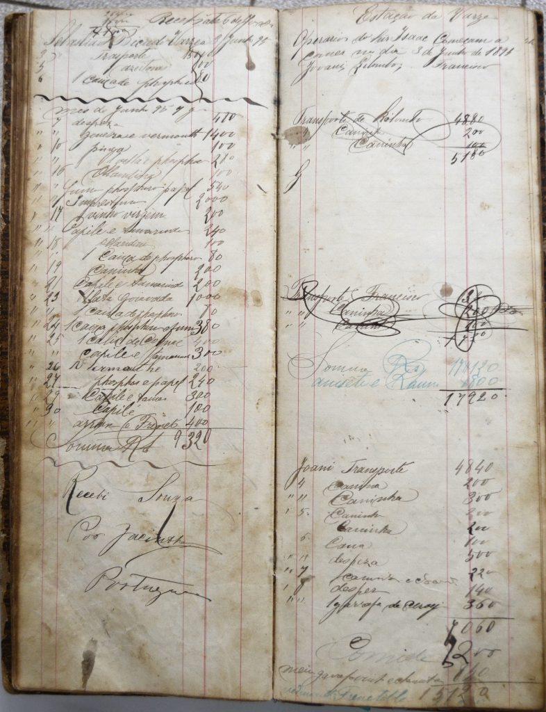 Livro do Armazém da família Souza.
